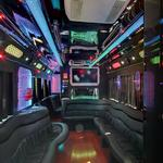 Inside of a amazing bus