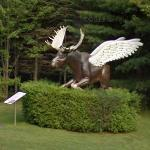Flying Moose Statue