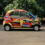Art Car painted by Bose Krishnamachari (StreetView)