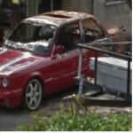Burned BMW (StreetView)