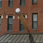 Big Pencil Stuck in a Wall (StreetView)