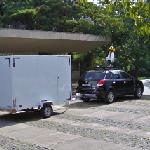 Google car and trailer