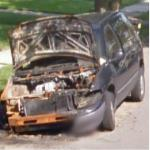 Burned Van