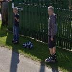 Boys on roller skates (StreetView)
