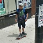 Boy on skateboard