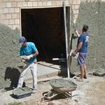 Bricklayers in action (StreetView)