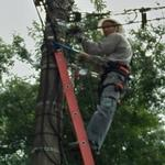 Electrician in action (StreetView)