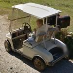 Guy in a golf cart