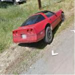 Corvette Crashed Into A Ditch