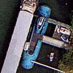 Submarine in the river Seine (Google Maps)