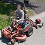 1 man, 2 mowers