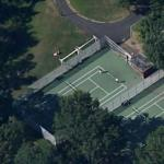 Tennis match in progress at Seton Park