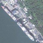 Cruise ships in Juneau (Google Maps)