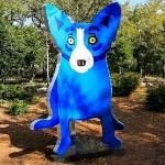 'We Stand Together, Blue Dog' by George Rodrigue