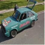 Rosas Pizza Delivery Car