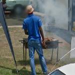 Cooking on a grill (StreetView)