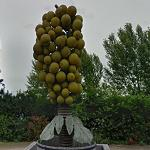 Giant Bunch of Grapes Sculpture