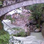 Ancient Bridge Over the River Anza