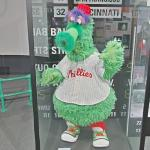 Phillie Phanatic at MLB Hall of Fame