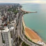 Chicago's shoreline (StreetView)