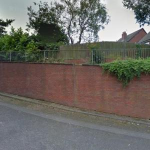 Dog hanged near Kates Hill Primary School in Dudley (StreetView)