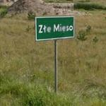 Zle Mieso sign