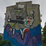 Boombox mural