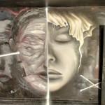 Street art by Bom.K & Liliwenn