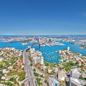 Aerial view from above North Sydney (StreetView)