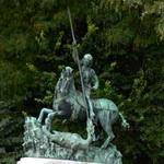 Saint George Slaying the Dragon - 14th century - replica