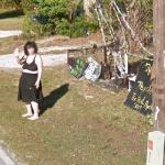 Psychic Waving at the Google Car