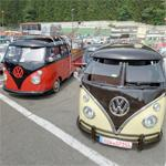 Volkswagen gathering at Spa-Francorchamps