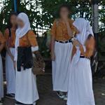 Students wearing a Hijab