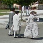 Staff or Docents in Historical, Period Costumes at Colonial Williamsburg