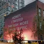 'Honey, I Twisted Thru More Damn Traffic Today' by Ed Ruscha