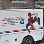 Spider-Man on a van