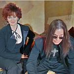 Wax Figure of Sharon & Ozzy Ozbourn