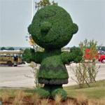 Charlie Brown topiary (StreetView)