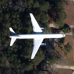 Boeing 757, Delta Air Lines (Google Maps)