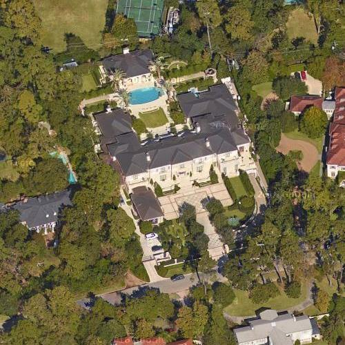 Meredith J. Long's House In Houston, TX (Google Maps