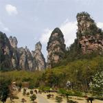 Zhangjiajie rock formations