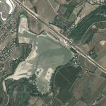 Conca river reservoir and dam (Google Maps)