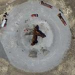 Airport aircraft fire simulator (Google Maps)