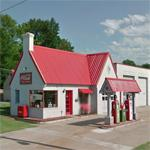 Vintage Texaco gas station