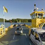 Google Car on a Ferry (Hanhivirta ferry)