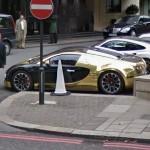 Golden Bugatti Veyron Grand Sport