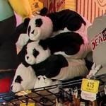 Panda plush animals