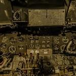 Cockpit of a Vickers Varsity simulator (StreetView)