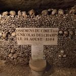 Ossements in the Paris Catacombs