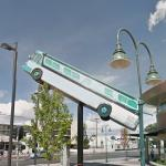 Reno Transit bus on a pole